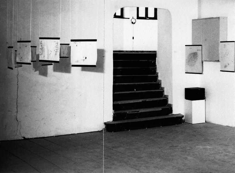 Geraeuschtopografien auf Transparentfolie, Bombay 1993, KKOe, 1993 Reithalle Sonnenhausen c_Broehan_r